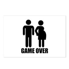 Game over Pregnancy Postcards (Package of 8)