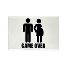 Game over Pregnancy Rectangle Magnet