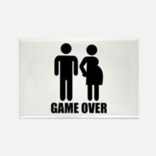 Game over Pregnancy Rectangle Magnet (100 pack)