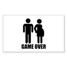 Game over Pregnancy Decal