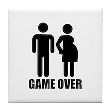 Game over Pregnancy Tile Coaster