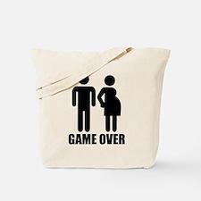 Game over Pregnancy Tote Bag