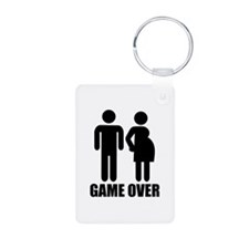 Game over Pregnancy Keychains
