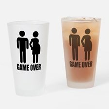 Game over Pregnancy Drinking Glass