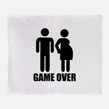Game over Pregnancy Throw Blanket
