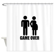 Game over Pregnancy Shower Curtain