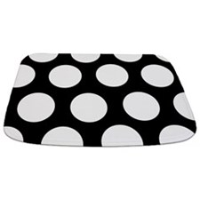 Black And White Large Polka Dot Bathmat