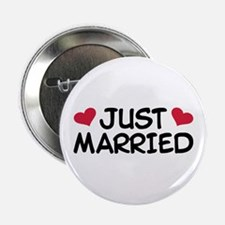 "Just Married Wedding 2.25"" Button"