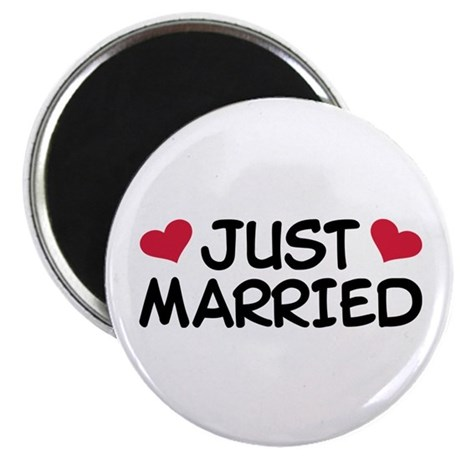 "Just Married Wedding 2.25"" Magnet (10 pack)"