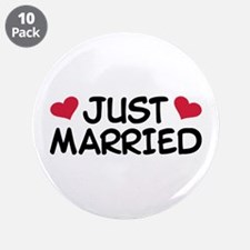 "Just Married Wedding 3.5"" Button (10 pack)"