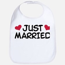 Just Married Wedding Bib