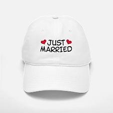Just Married Wedding Baseball Baseball Cap