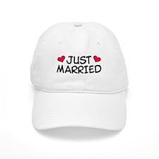 Just Married Wedding Baseball Cap