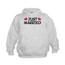 Just Married Wedding Hoodie