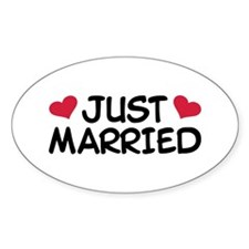 Just Married Wedding Decal