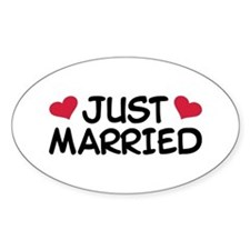 Just Married Wedding Stickers