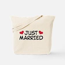 Just Married Wedding Tote Bag