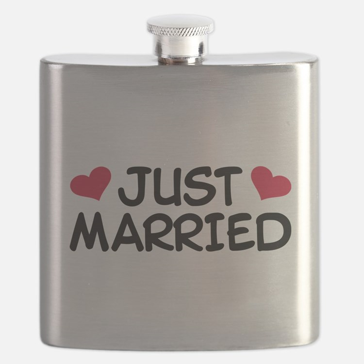 Just Married Wedding Flask