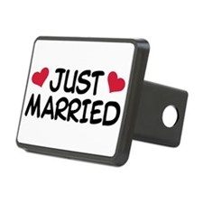 Just Married Wedding Hitch Cover