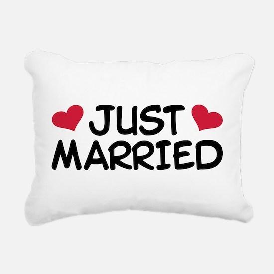Just Married Wedding Rectangular Canvas Pillow