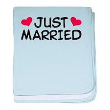 Just Married Wedding baby blanket
