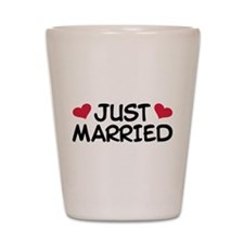 Just Married Wedding Shot Glass
