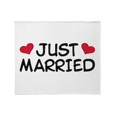 Just Married Wedding Throw Blanket