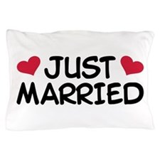 Just Married Wedding Pillow Case