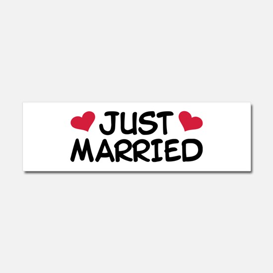 Just Married Wedding Car Magnet 10 x 3