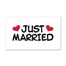 Just Married Wedding Car Magnet 20 x 12
