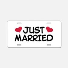 Just Married Wedding Aluminum License Plate