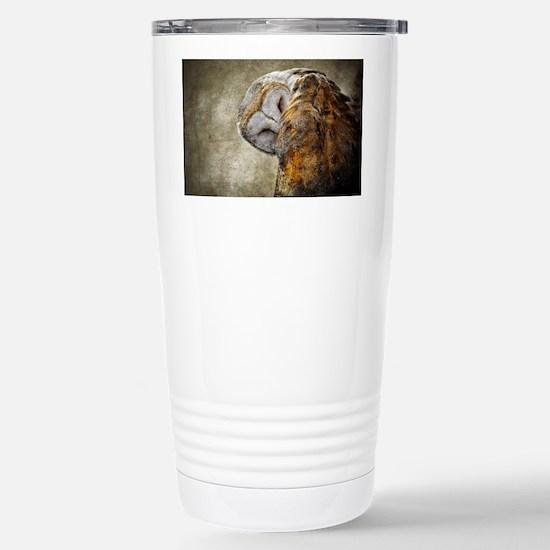 Barn Owl Stainless Steel Travel Mug
