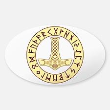 Mjölnir Rune Shield Bumper Stickers