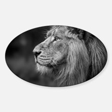 Asiatic Lion Sticker (Oval)