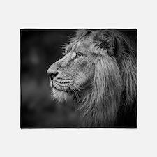 Asiatic Lion Throw Blanket