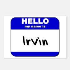hello my name is irvin  Postcards (Package of 8)