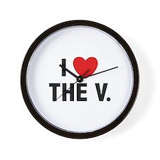I Love The V. Wall Clock