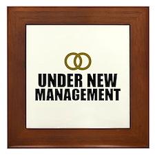 Under New Management Wedding Framed Tile
