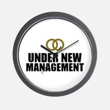Under New Management Wedding Wall Clock
