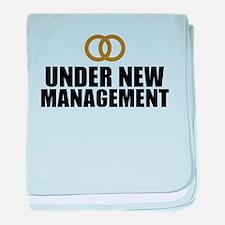 Under New Management Wedding baby blanket