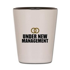 Under New Management Wedding Shot Glass