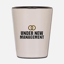 Under New Management Wedding Shot Glass