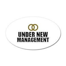 Under New Management Wedding Wall Decal