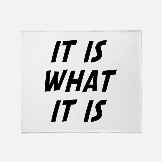 It Is What It Is Stadium Blanket