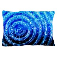 Blue Spiral Lights Pillow Case
