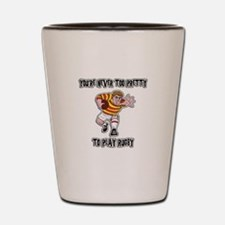 Funny Rugby Player Shot Glass