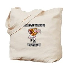 Funny Rugby Player Tote Bag