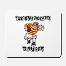 Funny Rugby Player Mousepad
