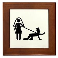 Bachelor party Wedding slave Framed Tile
