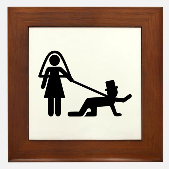 Bachelor party Wedding slave Framed Tile